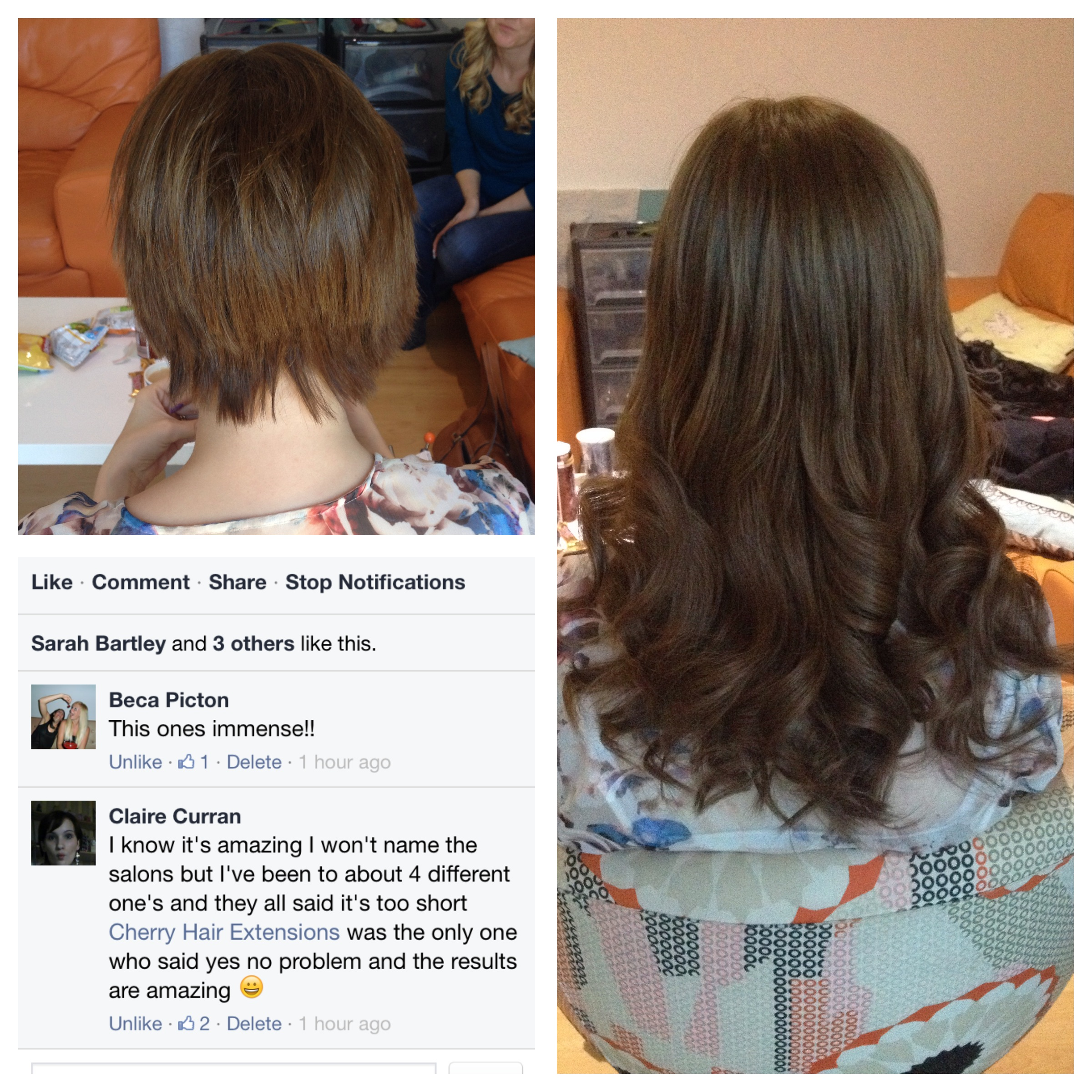 Claire Cherry Hair Extensions