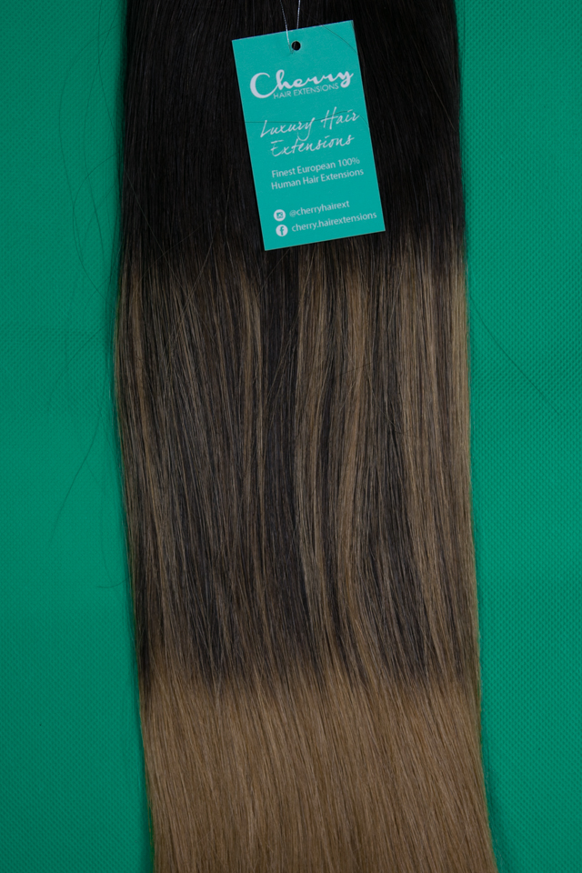 Shade 210 Balayage European Hair Extensions Cherry Hair