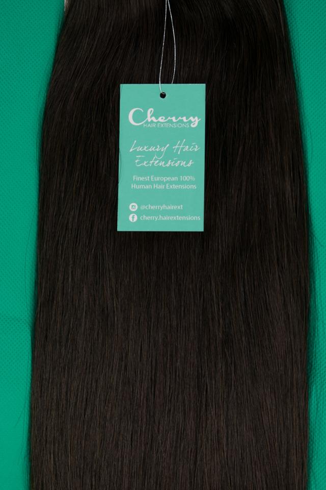 Shade 2 Darkest Brown European Hair Extensions Cherry Hair