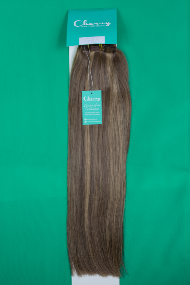 Shade 610 Piano Mid Blonde European Hair Extensions Cherry